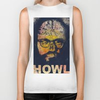 howl Biker Tanks featuring Howl by Alec Goss