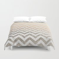 silver Duvet Covers featuring GOLD & SILVER  by Monika Strigel