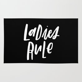 Ladies Rule Black Rug