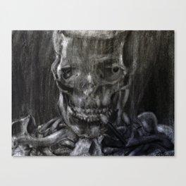 Death Smokes Canvas Print