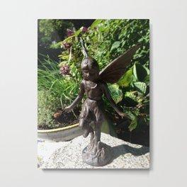 Fairy in the Garden Metal Print