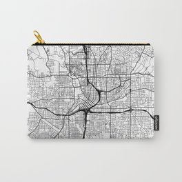 Atlanta Map White Carry-All Pouch