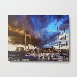 Storm Over the Erie Basin Marina Metal Print