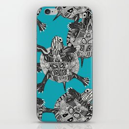 turtle party surf blue iPhone Skin
