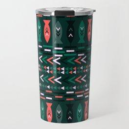 Fish aztec pattern- green Travel Mug