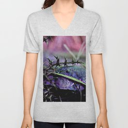 Mushrooms from other planet Unisex V-Neck
