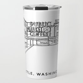 Seattle Pike Place Sketch Travel Mug