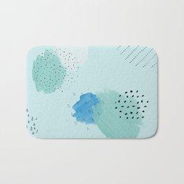 Abtract paint in light blue Bath Mat