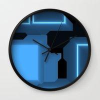 tron Wall Clocks featuring Tron by Fine2art