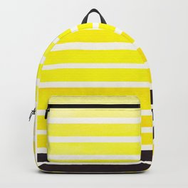 Yellow Minimalist Abstract 15 Stripes Watercolor Gradient Backpack