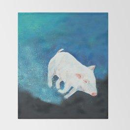 Swimming Piggy Throw Blanket