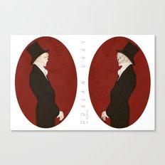 Dorian Gray (Scarlet)  Canvas Print