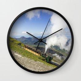 Steam Train To Snowdon Wall Clock