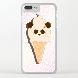 1-Scoop Panda Clear iPhone Case