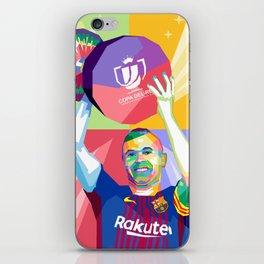 Iniesta Copa Del Rey iPhone Skin