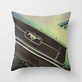 Galaxy Mustang Throw Pillow