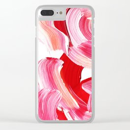 Vibrant and bold Pink Brush Stroke pattern Clear iPhone Case