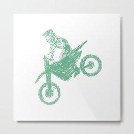 Dirt bike Motocross Metal Print