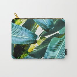 Banana leaf, tropical, Hawai, leaves, greens, palm leaves, outdoors, beach decor Carry-All Pouch