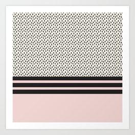 Pink lines Art Print