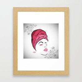 Lady Wrap (pink) Framed Art Print