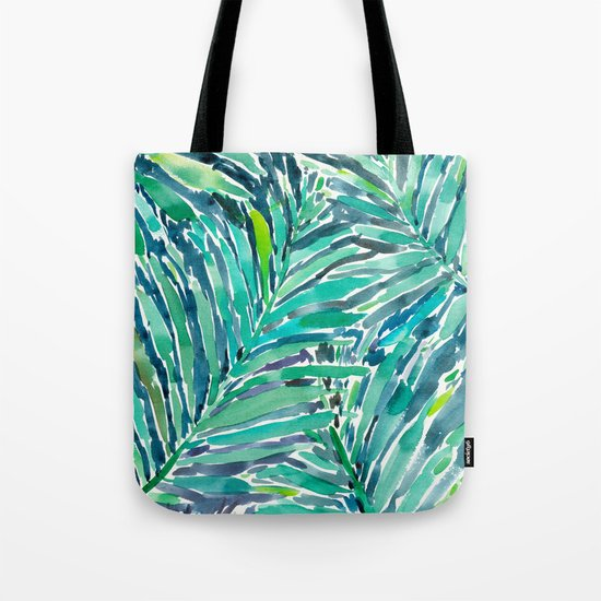 TROPICAL CANOPY Palm Leaves Tote Bag