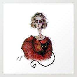 the teenage bitch Art Print