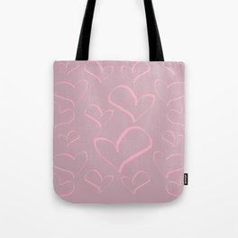 Heart shapes love romance art Tote Bag