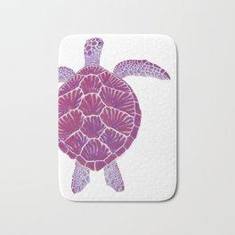 Magenta Sea Turtle Bath Mat