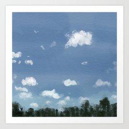 Labor Day Skies Art Print