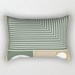 Stylish Geometric Abstract Rectangular Pillow