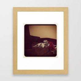 Sleepy Dino Framed Art Print