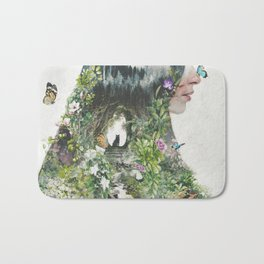 Cat in the Garden of Your Mind Bath Mat