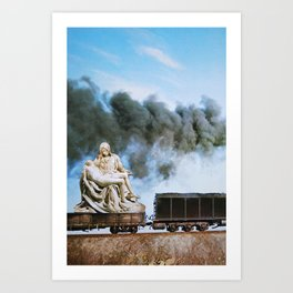 Pietà Train Art Print