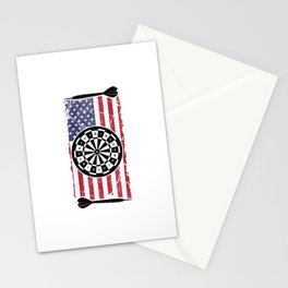 Proud American USA Flag Dart Player Gift Stationery Cards