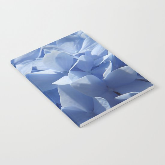 Blue hydrangea in LOVE- Flower floral Notebook
