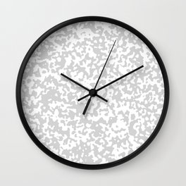 Small Spots - White and Light Gray Wall Clock