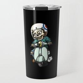 the skeleton ride motorcycle Travel Mug