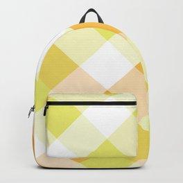 Light green & Orange Square Combination Backpack
