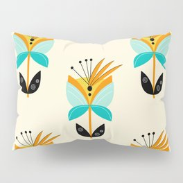 Abstract Flower Pillow Sham