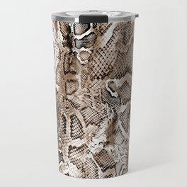 Tan Snakeskin  Travel Mug
