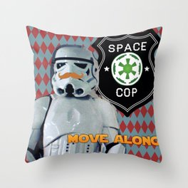 Space Cop Throw Pillow
