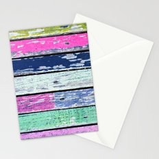 color grunge wood Stationery Cards
