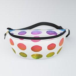 Rainbow Watercolor Fanny Pack