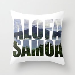 Alofa Samoa Throw Pillow
