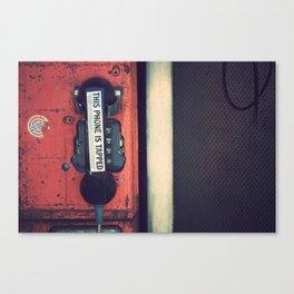 Wiretap Canvas Print