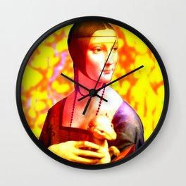 Dama con l'Ermellino Wall Clock