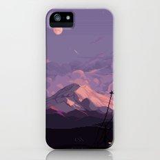 Mt Rainier with Powerlines Slim Case iPhone SE