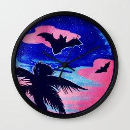 Bats by Night Wall Clock