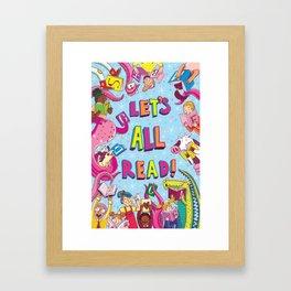Let's All Read! Framed Art Print